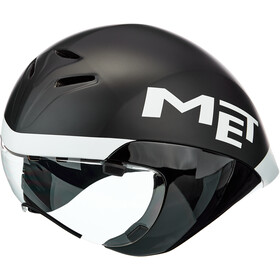 MET Drone Casco, black/white